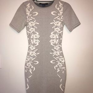 Grey French Connection fitted dress